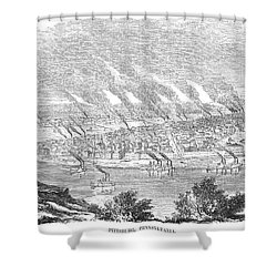 Pittsburgh, 1855 Shower Curtain by Granger