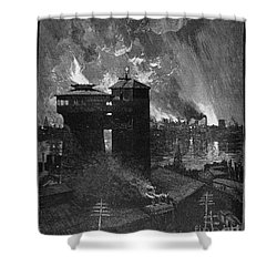 Pittsburgh: Blast Furnaces Shower Curtain by Granger