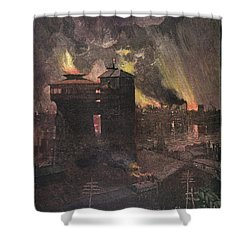 Pittsburgh: Furnaces, 1885 Shower Curtain by Granger