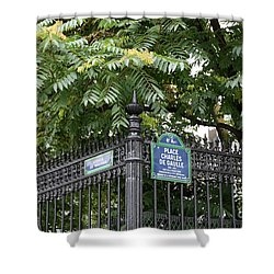 Place Charles De Gaulle And Avenue De Wagram Shower Curtain by Carol Groenen
