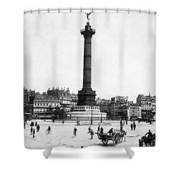 Place De La Bastille Shower Curtain by Granger