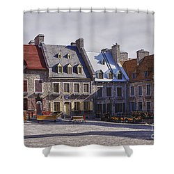 Place Royale Shower Curtain by Eunice Gibb