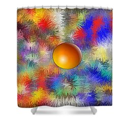 Shower Curtain featuring the digital art Planet Stand Out by Alec Drake