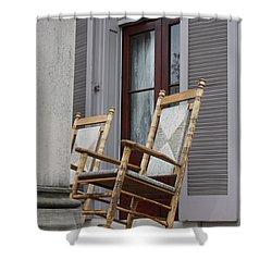 Plantation Rocking Chairs Shower Curtain by Carol Groenen