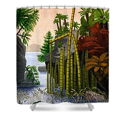 Plants Of The Triassic Period Shower Curtain by Science Source