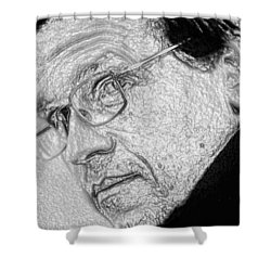 Plastic Man Shower Curtain by Robert Margetts