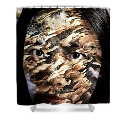 Plates Of Woe Shower Curtain by Christopher Gaston