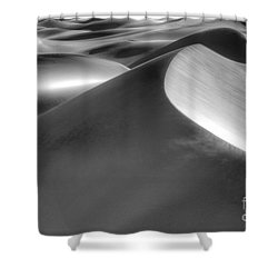 Platinum Dunes Shower Curtain by Bob Christopher