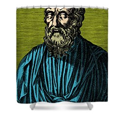 Plato, Ancient Greek Philosopher Shower Curtain by Photo Researchers
