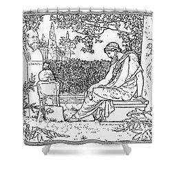 Plato (c427-c347 B.c.) Shower Curtain by Granger