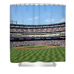 Globe Life Park, Home Of The Texas Rangers Shower Curtain