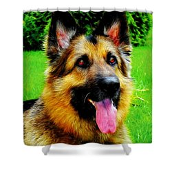 Play With Me Shower Curtain by Mariola Bitner