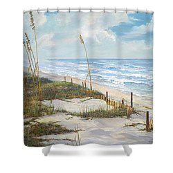 Playalinda Shower Curtain by AnnaJo Vahle