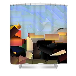 Playground Shower Curtain by Donna G Smith