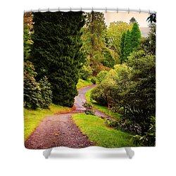 Pleasant Path. Benmore Botanical Garden. Scotland Shower Curtain by Jenny Rainbow