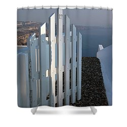 Please Come In Shower Curtain by Vivian Christopher