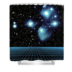 Pleiades In Taurus Shower Curtain by Science Source