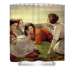 Plotting Mischief Shower Curtain by Frank Stone
