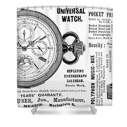 Pocket Watch, 1897 Shower Curtain by Granger