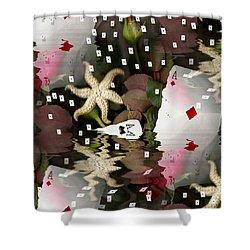 Poker Pop Art All In Shower Curtain by Pepita Selles