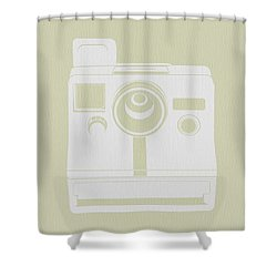 Polaroid Camera 3 Shower Curtain by Naxart Studio