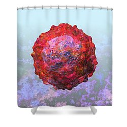 Polio Virus Particle Or Virion Poliovirus 2 Shower Curtain