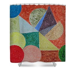 Shower Curtain featuring the painting Polychrome by Sonali Gangane