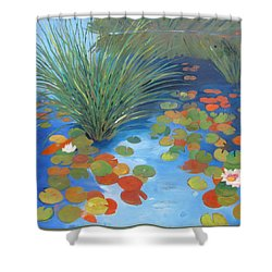 Pond Revisited Shower Curtain