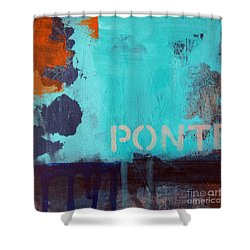 Ponte Shower Curtain by Linda Woods