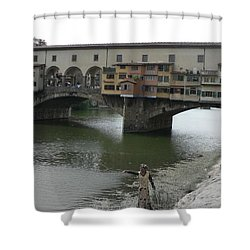 Shower Curtain featuring the photograph Ponte Vecchio by Laurel Best