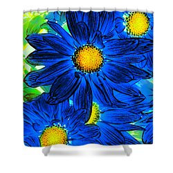 Pop Art Daisies 15 Shower Curtain by Amy Vangsgard