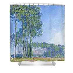 Poplars Shower Curtain by Claude Monet
