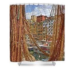 Port Of Camogli Shower Curtain by Joana Kruse
