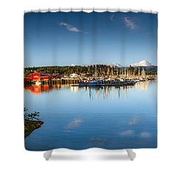 Port Of Ilwaco Shower Curtain by Robert Bales