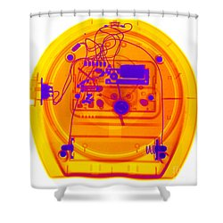 Portable Clock Shower Curtain by Ted Kinsman