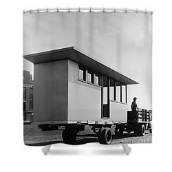 Portable Housing, C1938 Shower Curtain by Granger