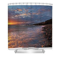 Shower Curtain featuring the photograph Porth Swtan Cove by Beverly Cash