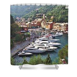Portofino Shower Curtain by Marilyn Dunlap
