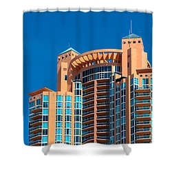 Portofino Tower At Miami Beach Shower Curtain