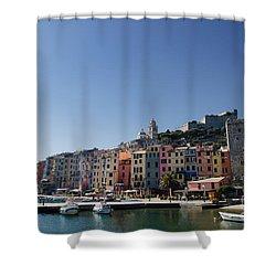 Portovenere Shower Curtain by Mats Silvan