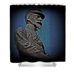 Portrait 29 American Civil War Shower Curtain by David Dehner