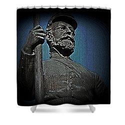 Portrait 30 American Civil War Shower Curtain by David Dehner