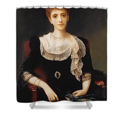 Portrait Of A Lady Shower Curtain by Charles Edward Halle
