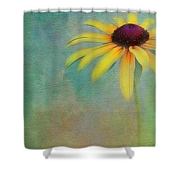 Portrait Of A Sunflower Shower Curtain by Judi Bagwell
