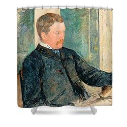 Portrait Of Alexander J. Cassatt Shower Curtain by Mary Stevenson Cassatt