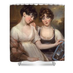 Portrait Of Anne And Maria Russell Shower Curtain by John Russell