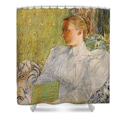 Portrait Of Edith Blaney Shower Curtain by Childe Hassam