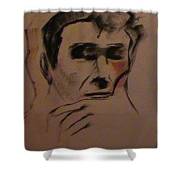 Shower Curtain featuring the painting Portrait Of Frank Frazetta by George Pedro