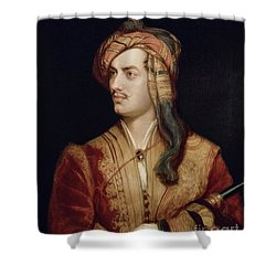 Portrait Of George Gordon Shower Curtain by Thomas Phillips