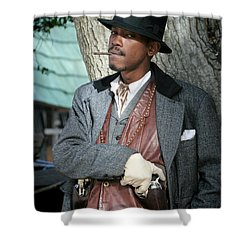 Portrait Of Kurupt Shower Curtain by Nina Prommer